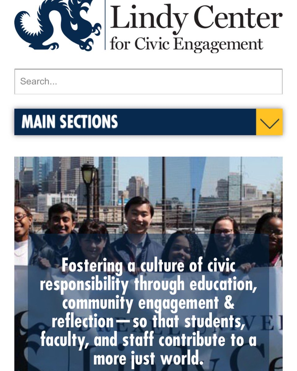 We're excited to share our new website and #civicengagement database - the best place for Drexel students to find local volunteer opportunities and nonprofits! Visit https://t.co/LMbCHHmmds to explore. #drexel #drexeluniversity #drexeldragons #volunteer #studentengagement #philly https://t.co/8p8hS0zQxI