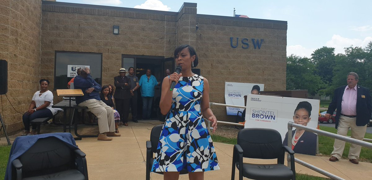 Thank you Akron for an amazing weekend. I appreciate all the support you have shown me. Can't wait to come back and connect with more of you. Special thanks to the United Steelworkers for hosting. We can do this!  #shontelbrownforcongress #OH11 #Akron https://t.co/QmsFsc66CK