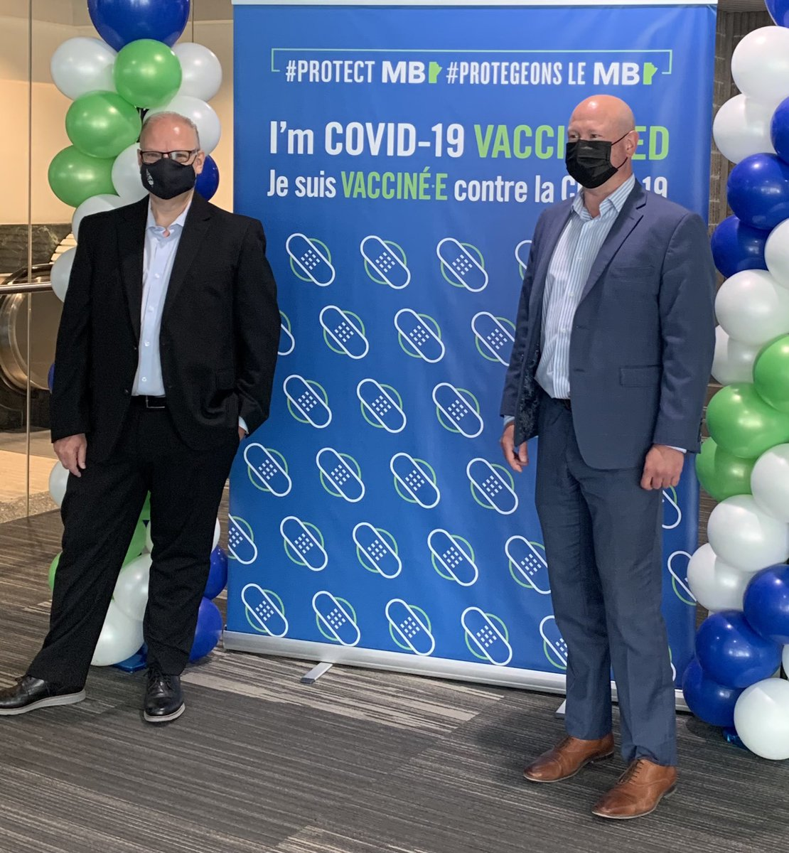 test Twitter Media - It was a pleasure to join @roussin_brent this morning at the RBC Supersite to both celebrate 1,000,000 COVID vaccine doses in Manitoba but also to thank all the staff and volunteers for their amazing work. A tremendous sense of optimism. #MBPoli https://t.co/pKxu6TdLr0