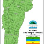Image for the Tweet beginning: Predicted fire danger for Tuesday