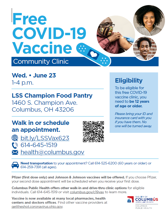 DON'T FORGET! Tomorrow is the day of our free vaccine clinic with @ColumbusGov. Details below. See you there! #vaccine #lssnetworkofhope #VaccineForAll https://t.co/QwVdJYF6Bn