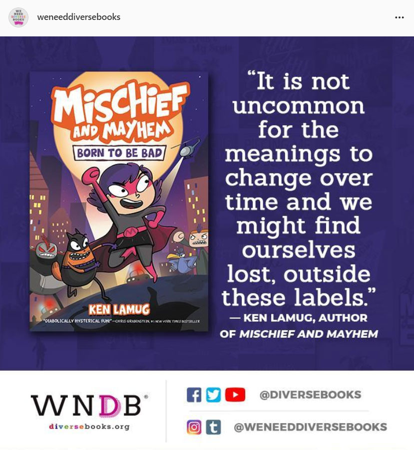 Happy book birthday to MG graphic novel MISCHIEF AND MAYHEM, which explores the balance between superheroes and supervillains. Read more @ https://t.co/aaSdrxU9YL @diversebooks  #author #aapi #ownvoices #kidlit  #mg #mglit #middlegradebooks   #bookbirthday @HarperCollins https://t.co/thZPORPKbf