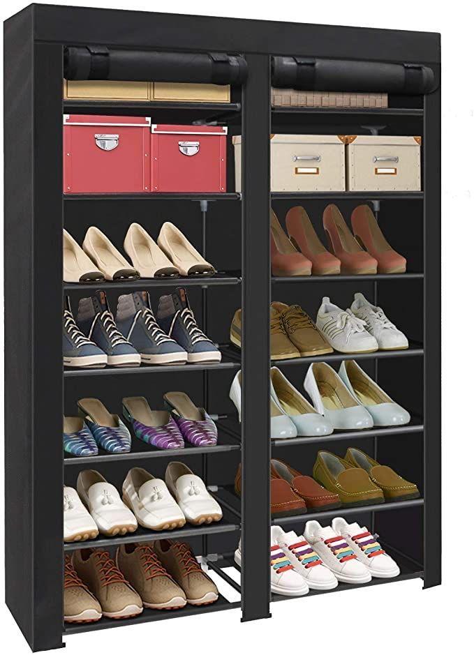 ad: ONLY $27.99  28 Pair Portable Shoe Storage Closet