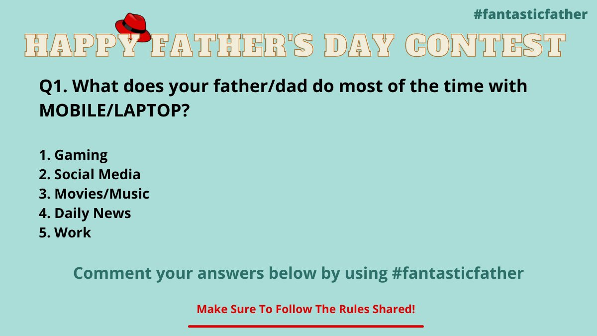 Get rolling for the first question of the father's day contest guysss! Tag ur friends and let them know about this contest and increase the chances for your win.   #FathersDay #fantasticfather #father #FathersDay2021  #contestalert #Twitter #fathersdaygifts #gift #tuesdayvibe https://t.co/Rop5SVCAFs