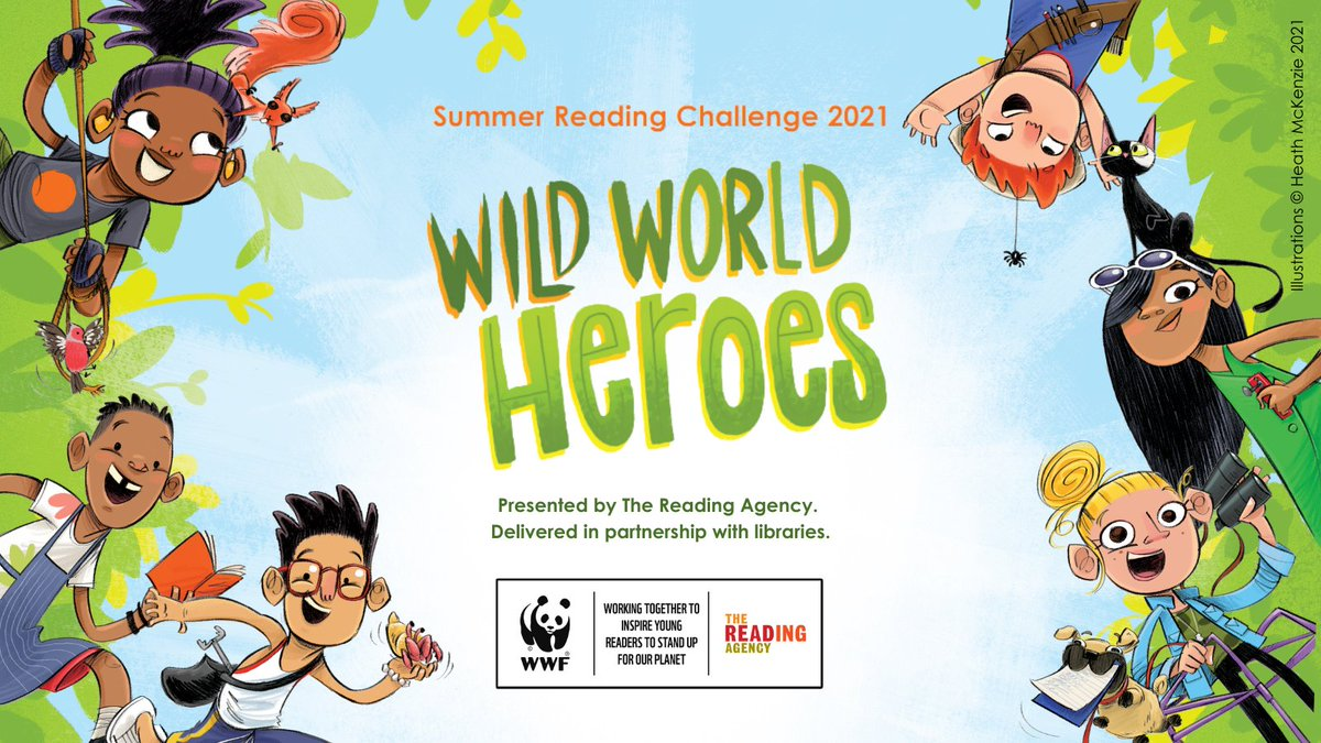 RT @leicslibraries: The Summer Reading Challenge is back and this year we're getting wild with the Wild World Heroes! Join at your local Leicestershire Library from 3rd July. Go to https://t.co/z7UVDGP9Dy for info! #SummerReadingChallenge2021 #WildWorldHeroes2021
