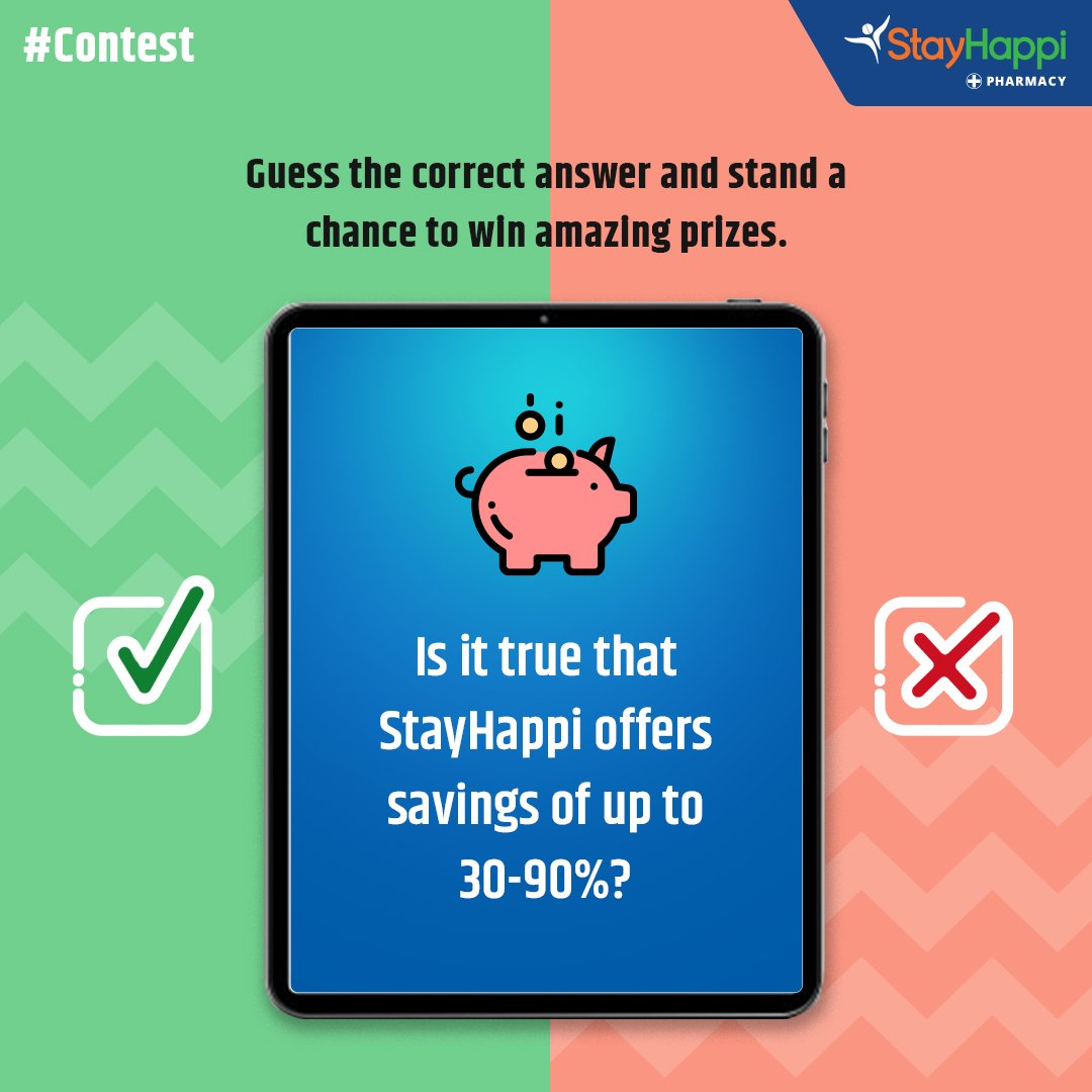Answer whether the following statement is true or False and get a chance to win exciting prizes with StayHappi.   Hint - https://t.co/62k3gmTy7I  Steps to win -  1) Follow Us 2) Comment the right answer 3) Tag maximum no. of friends   #Contest #StayHappi #ContestAlert https://t.co/o2fiUjCNji