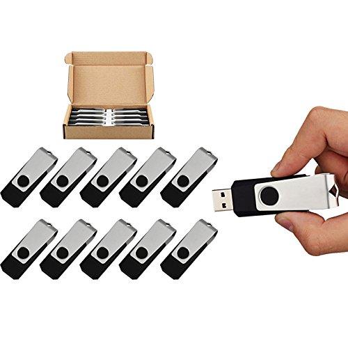 TOPESEL 10PCS Flash Drive Memory Stick USB Thumb Drives Pen Drive
