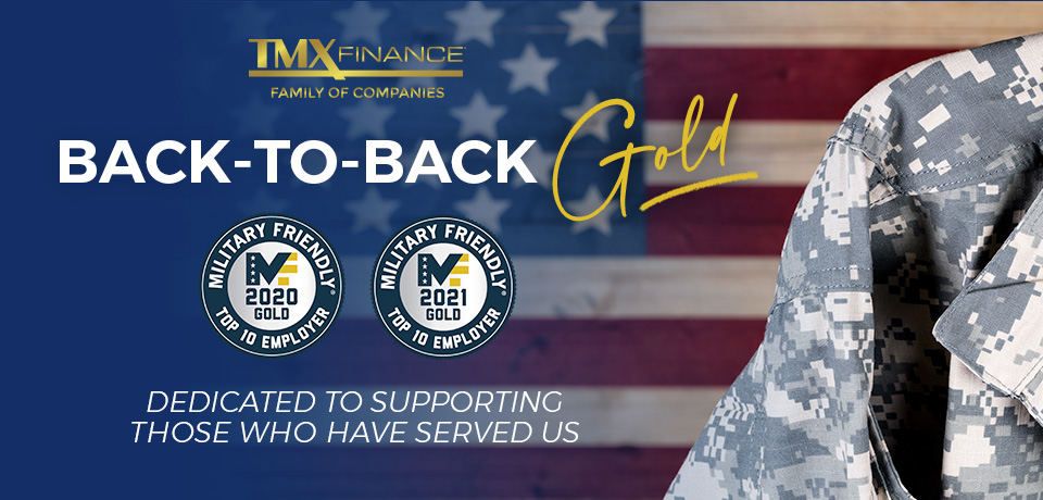 Back-to-Back Gold! We are proud to be recognized again as a Top Ten Gold Military Friendly® Employer for 2021! This is the Company's second consecutive Top Ten Gold ranking and third #MilitaryFriendly award since 2017. #TMXProjectSERV #HireVeterans https://t.co/1QplPzVHbo