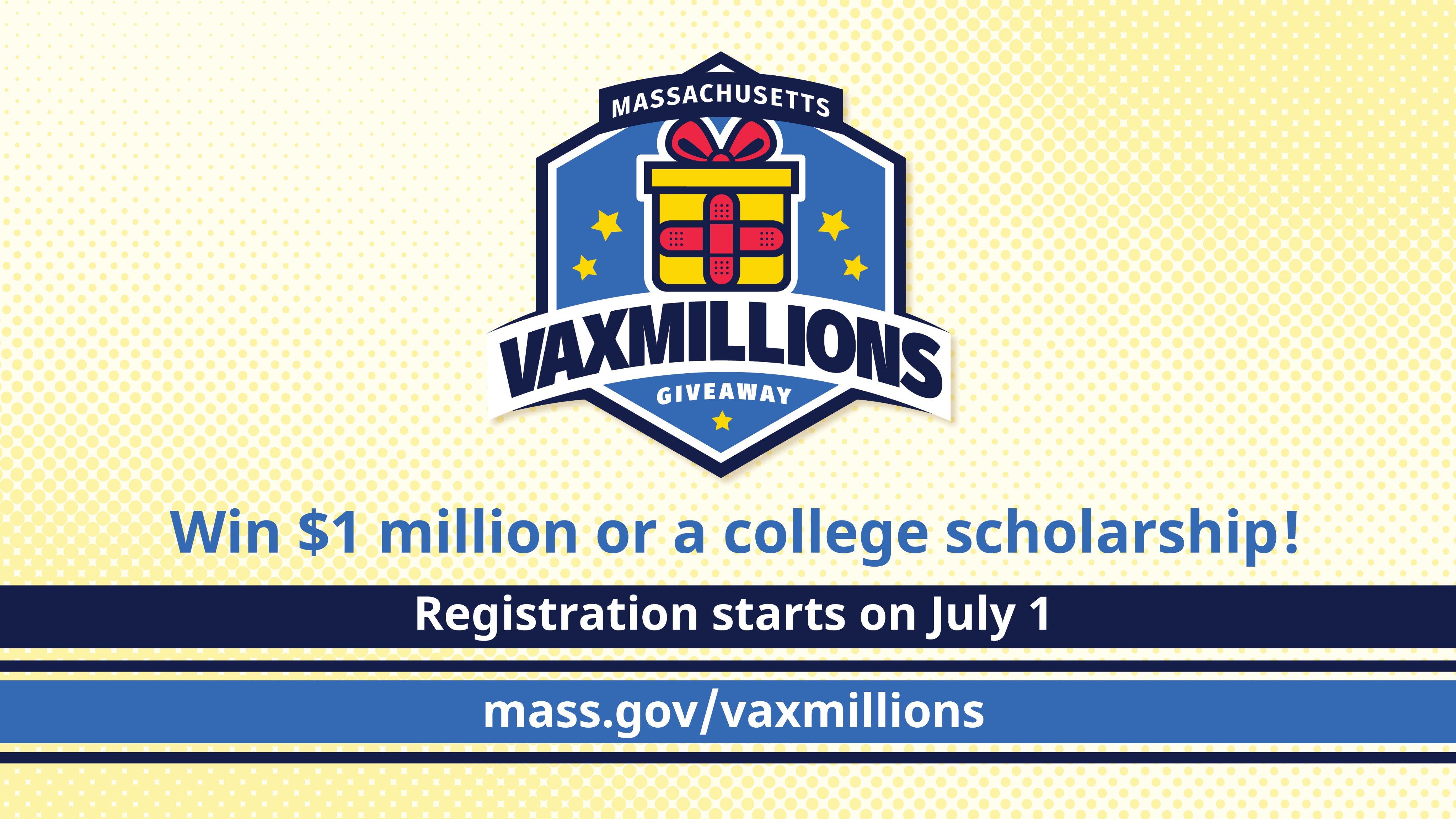 VaxMillions Giveaway registration is open
