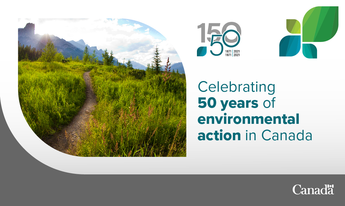 🇨🇦 Happy 5️⃣0️⃣th anniversary @environmentca! 🇨🇦  This week marks 50 years since our host country, #Canada, formally established one of the world's first federal environmental departments.  Learn more: https://t.co/X70v5j2fEV  #ECCC50 https://t.co/tneYtBMtNo