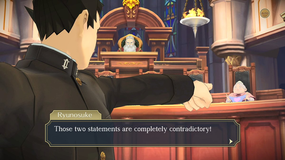 TAKE THAT! ... a look at new features in #TheGreatAceAttorney Chronicles, that is. Learn how to deduce details from crime scenes and the power of persuasion in court. ⚠️Heads up: minor spoilers in the video!⚠️ https://t.co/4vnS6oME2W