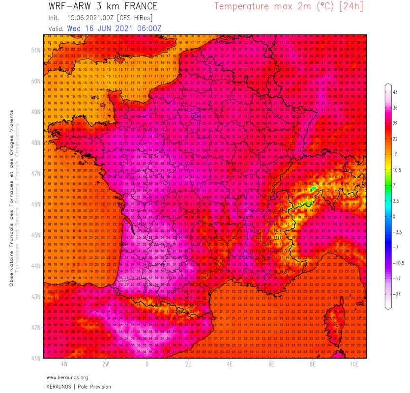 Les très fortes chaleurs s'étendent demain sur la majeure partie de la France avec plus de 35°C dans le sud-ouest notamment.