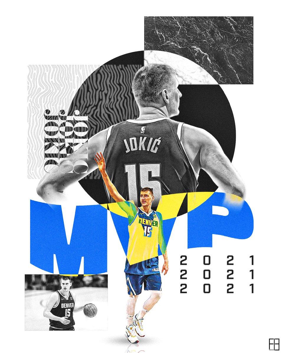 Jokic MVP!! // @nuggets @NBA   #GraphicDesign #sportsdesign #smsports #nba #Nuggets #nikolajokic https://t.co/v0NEJotYy1