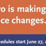 Image for the Tweet beginning: Reminder: new schedules start June