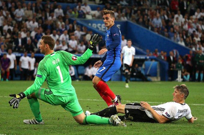   سجل أنطوان غريزمان ضد المنتخب الألماني