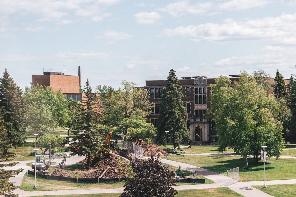 There are five projects happening this summer at UW-Superior. One of the most noticeable is the replacement of the main fiber op...