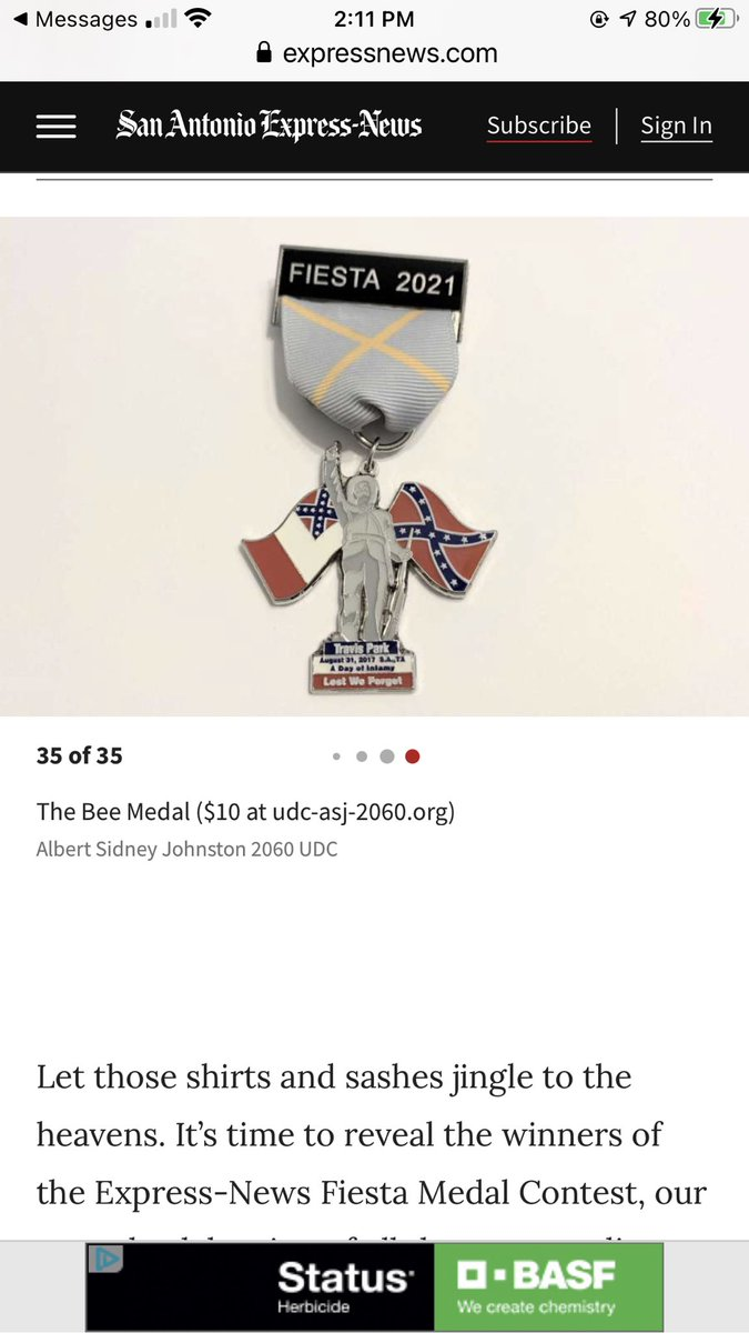RT @AHarrisGR: Really @ExpressNews? *THIS* is an award winning Fiesta Medal?!? 🤦♀️ https://t.co/MjG47lN2FA https://t.co/TSs0B3G2fg