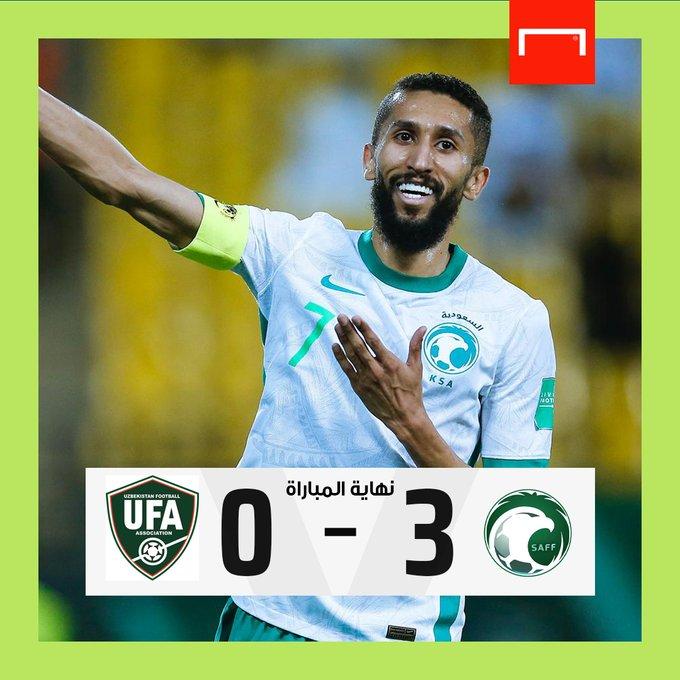 الأخضر السعودي يضرب أوزباكستان بثلاثية