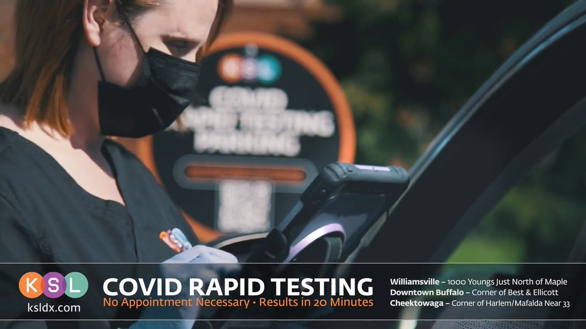 Rapid Testing now available from KSL at THREE convenient locations! No appointment necessary, but you can save your spot by scheduling at https://t.co/aB1f8K9rJc https://t.co/uei4LpEnuv