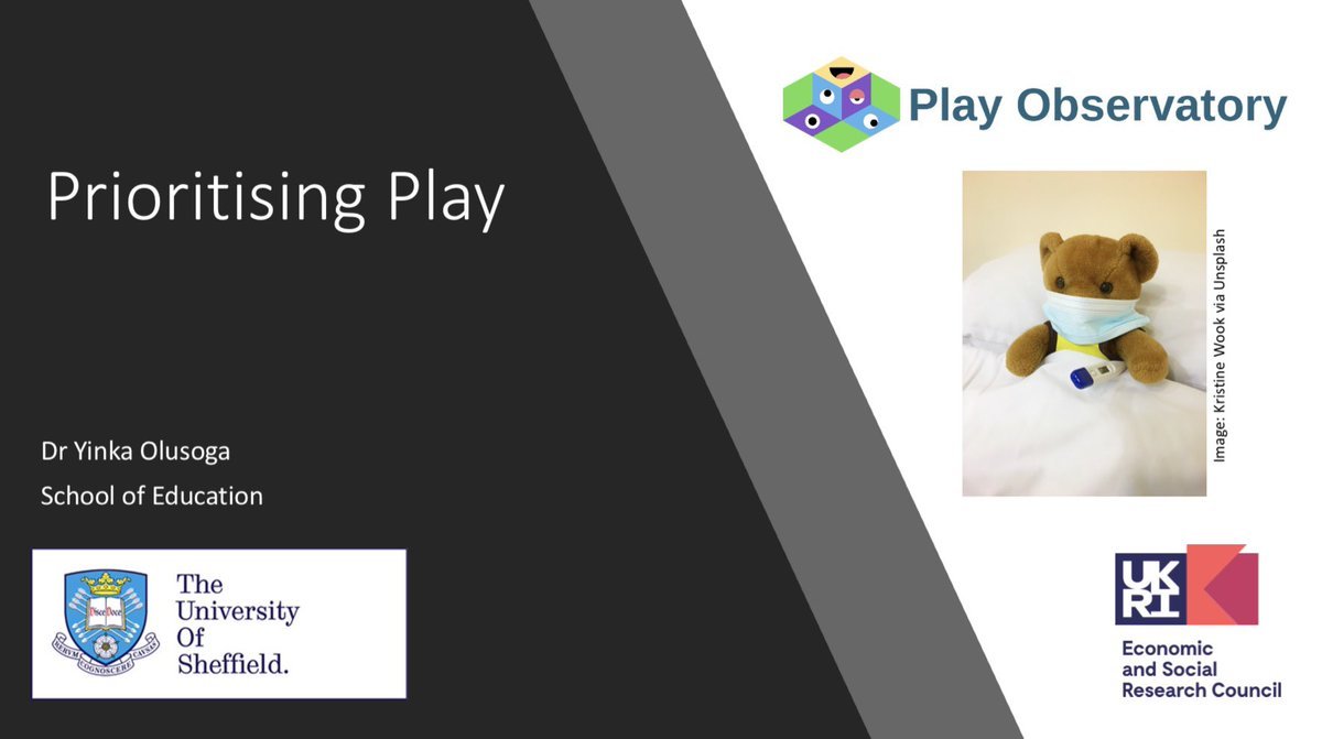 Such an honour to talk at the @EYAlliance conference tonight about prioritising play and to share some of the thinking underpinning our @ESRC funded @PlayObservatory research project. @EducationSheff @IOE_London @CASAUCL Thanks for having me! https://t.co/tXx2HkNaU4