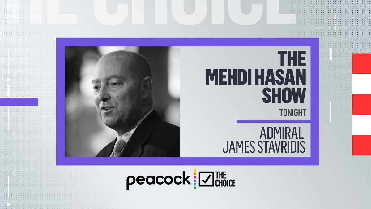 As President Biden prepares for his meeting with Vladimir Putin tomorrow, @stavridisj joins @mehdirhasan to discuss the importance of the summit for the U.S., for NATO, and for the world.   Live at 7 p.m. ET on @peacockTV: https://t.co/SIk4Qg4kHK https://t.co/Tv3Rw75gUf