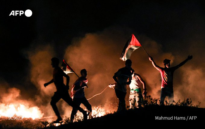 Israel carries out Gaza Strip airstrike after militants release incendiary balloons Photo