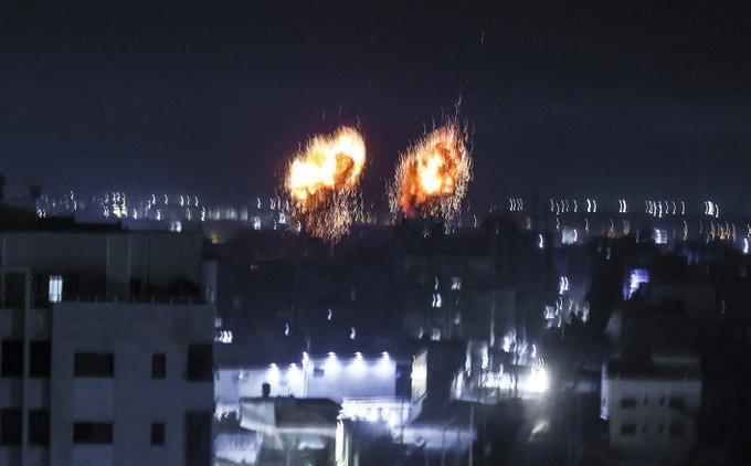 Israel strikes in Gaza after arson attacks Photo