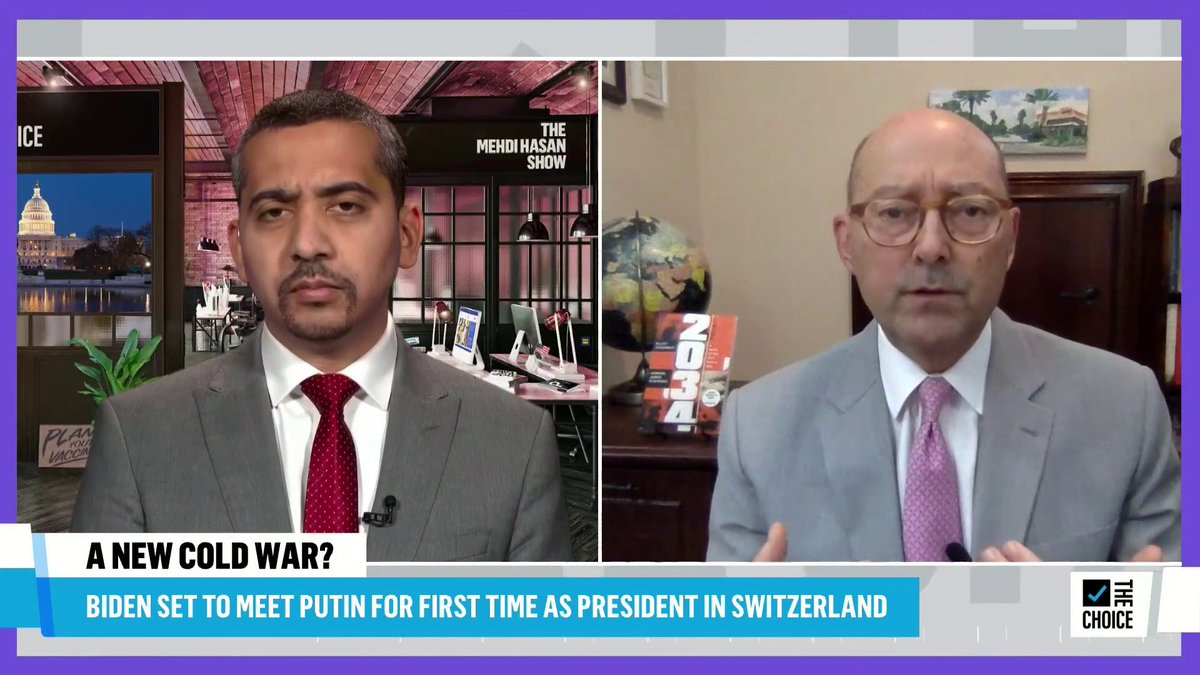 On the eve of the Biden-Putin summit, @MehdiRHasan asks former Supreme Allied Commander Gen. James Stavridis if Russia has a right to feel threatened with so many former USSR countries now part of the alliance. WATCH: https://t.co/1yMaHOIdM0