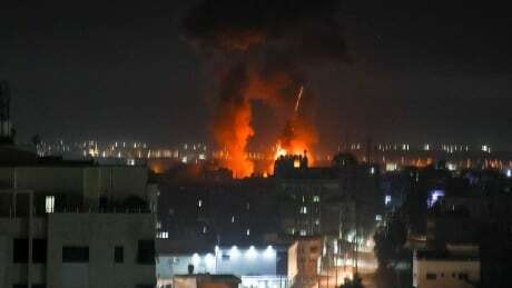 Israel says it carried out airstrikes on Hamas compounds after incendiary balloons launched from Gaza Photo