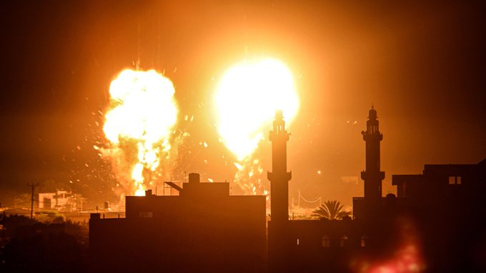 Israel Launches Airstrikes On Gaza, Breaking Cease-Fire With Hamas Photo