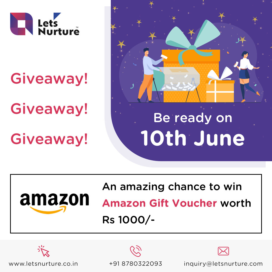 Giveaway time! Grab a chance to win an INR 1000 worth of Amazon gift voucher. Make sure to come back to our page on 10th June.    #giveaways #giveaway #giveawaycontest #giveawaytime #giveawayalert #giveawayindonesia #free #contest #iphone #giveawayindo #win #giveawayiphone https://t.co/2coCG2ATy0