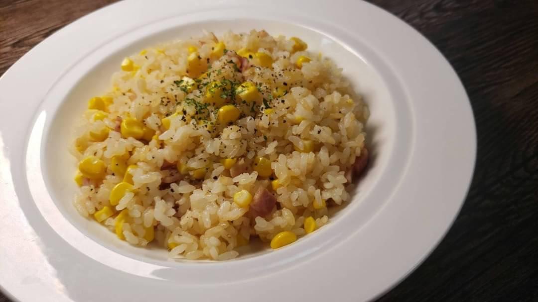 材料を入れたら後は炊飯器にお任せ!とっても簡単なトウモロコシレシピ!