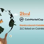 Image for the Tweet beginning: LISTED ON COIN MARKET CAP