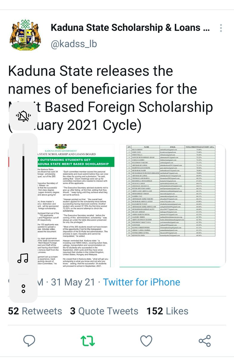 I almost didn't apply because I made conclusions. I applied because it costs nothing to. I am beyond 'blown away'. I am very excited to be part of this. My name came through despite not knowing anyone. Thank you @kadss_lb many thanks to @Hassan_Rilwan God bless @elrufai