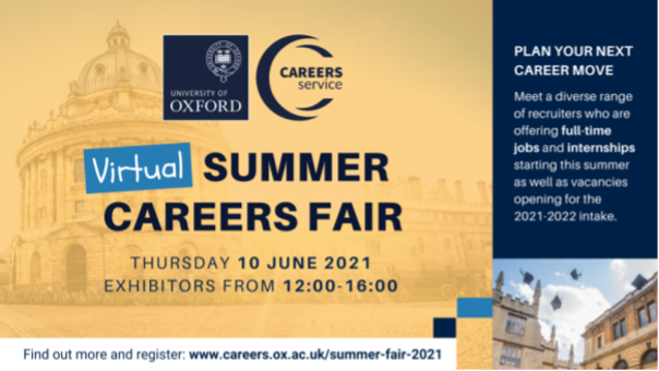 If you're graduating this year and haven't yet secured a job or you're looking for an internship this summer, the Virtual Summer Careers Fair this Thursday, 10 June, between 12:00-16:00 is a great opportunity for you 😍 Find out more via the link below 👇 https://t.co/7HzjBdn8cR https://t.co/wXkuznACz8