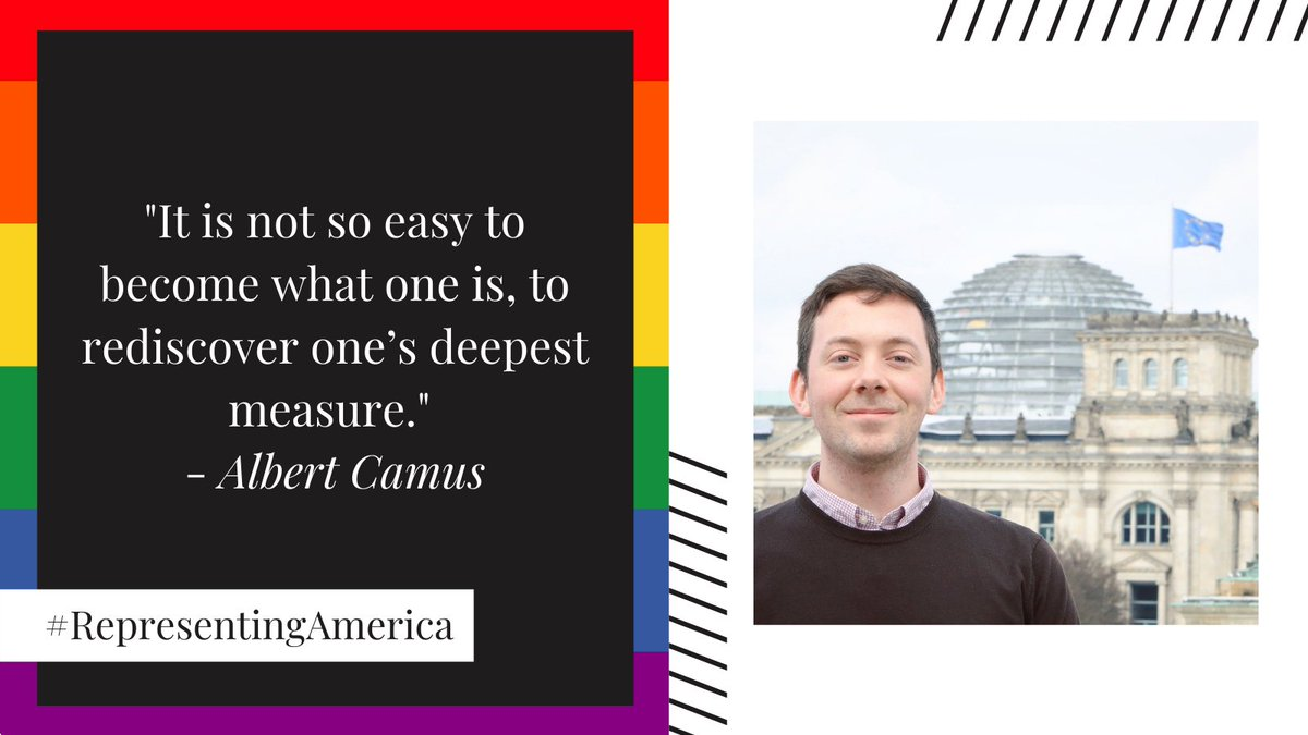 #RepresentingAmerica, Jake Nelson serves as an EU desk officer and works every day to advance U.S.-EU relations. He joined the Foreign Service as a @PickeringProg fellow and has served overseas in Algiers and Berlin. #Pride2021  https://t.co/l3Xwugunjp https://t.co/MHp8FAImW4