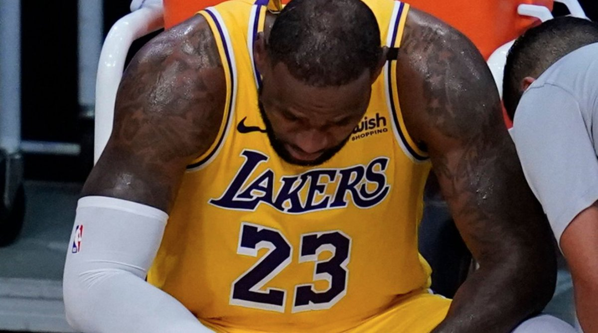 In a terrible setback for the Chinese government, their spokesman LeBron James and his team, the Los Angeles Lakers, were eliminated in the first round of the NBA playoffs last night, one season after winning the NBA championship.  https://t.co/CO8GJprv5i https://t.co/IJ78IEG7vQ