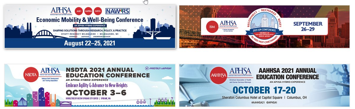 Lots of great @APHSA1 events coming up, including one we're co-hosting in August. Register now! #EMWB21