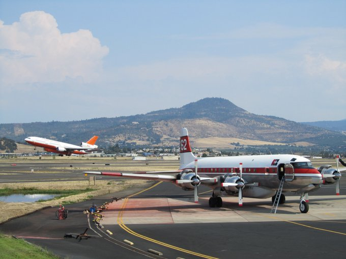 Photo of the Medford Air Tanker Base, circa 2014. Repairs at the base were recently completed, and will ensure greater safety for operations heading into this fire season and those in the future.