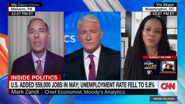 """At the current pace, """"we'll be back to full employment sometime in late 2022,"""" Moody's Analytics chief economist Mark Zandi says.  """"We've got a ways to go here, and obviously a lot of things could go wrong, but right now it feels like we're on the right track."""" https://t.co/TUba7ReZaU"""