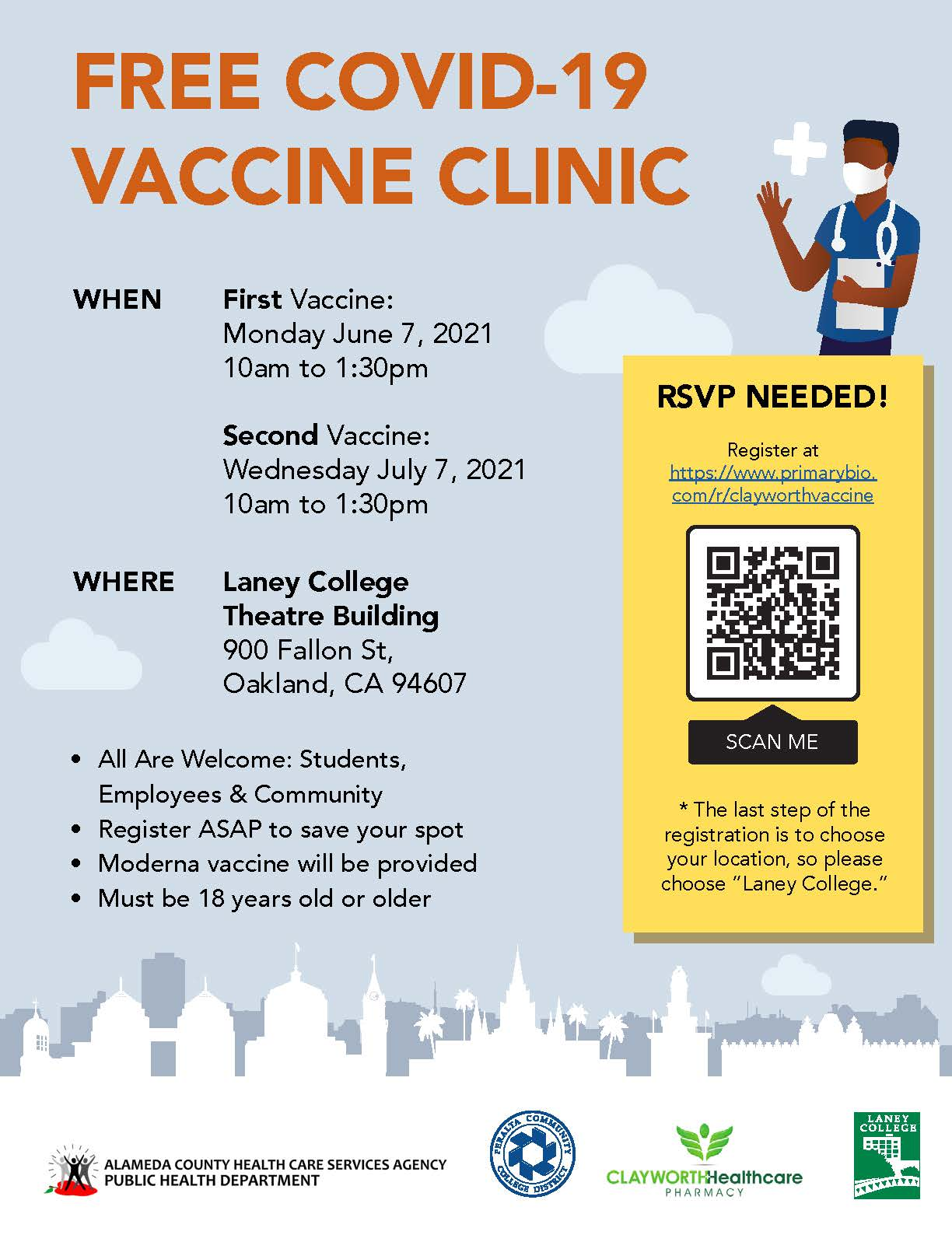 Vaccine Clinic - Get Vaxxed! @ Laney College