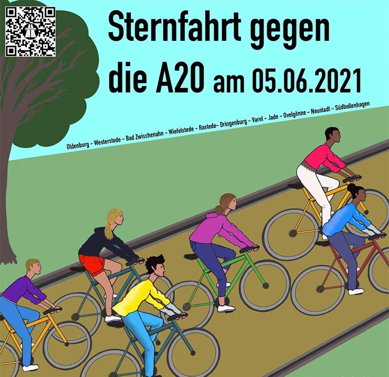 In #Oldenburg geht es morgen früh um 9:30 Uhr auf dem Schlossplatz los. Um 11 stoßen die Radler*innen aus #Rastede dazu. Weitere Strecken ab #BadZwischenahn über #Wiefelstede, ab #Westerstede, #Varel, #Jade u #Ovelgönne. Alle enden um 12:30 Uhr am Gut Hahn. #MobilitaetswendeJetzt https://t.co/YwqYbFJ02I https://t.co/BxTf0A3yXp