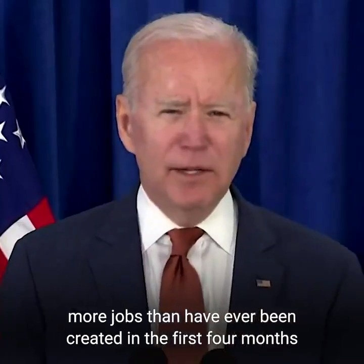 Unemployment is at its lowest level since the pandemic started. Our plan is working. And we're not going to let up now. https://t.co/wqkS8Sbs6U