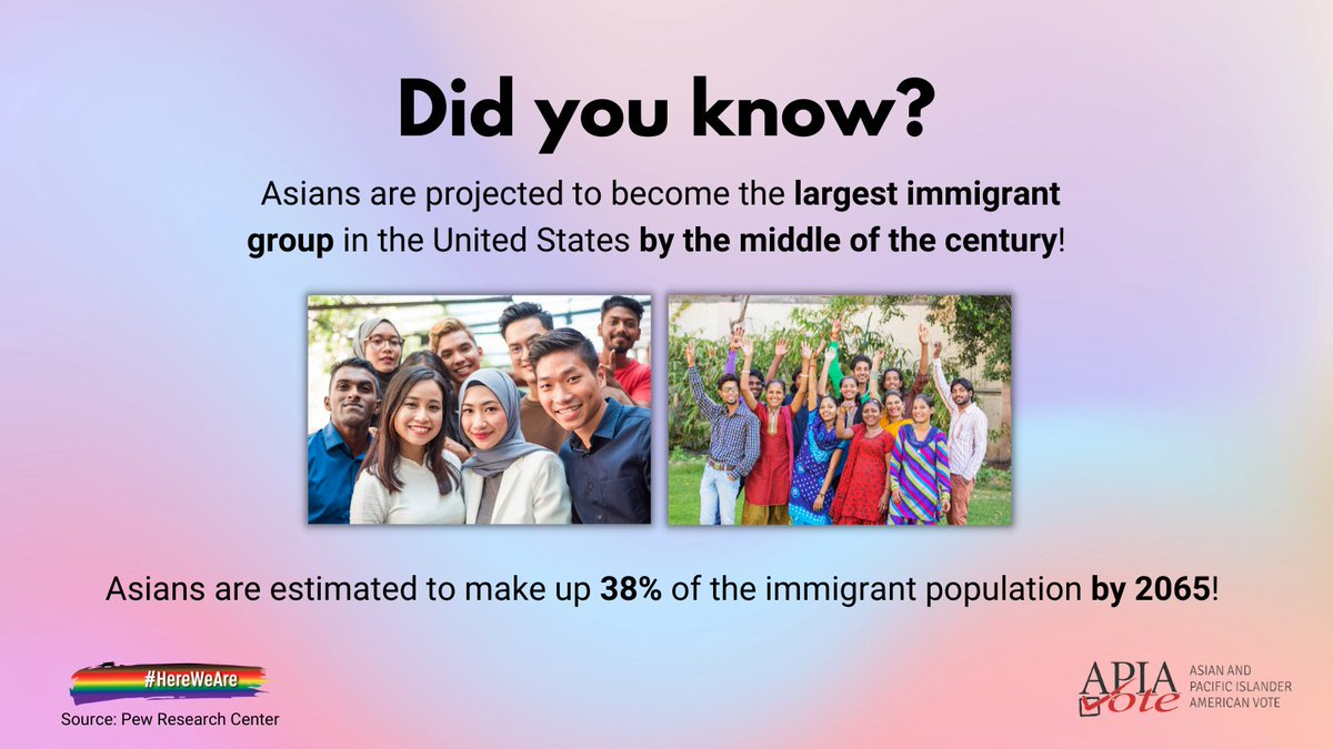 Asians are projected to become the largest immigrant group in the United States by the middle of the century! This Immigrant Heritage Month, we celebrate the continuing growth and diversity of our Asian American communities and look forward to seeing what we can achieve together. https://t.co/vKVyea6Lt2