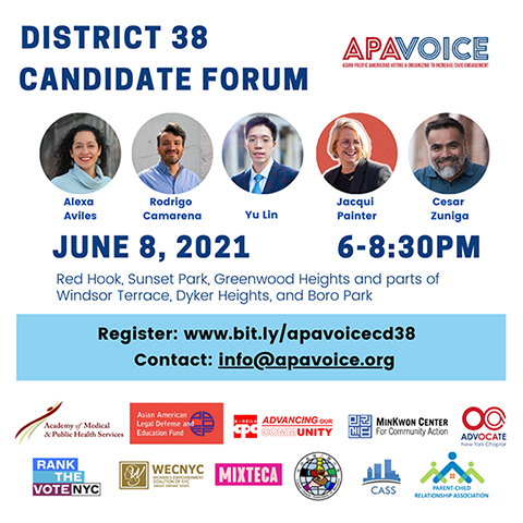 New York City voters, tune in tomorrow or the District 38 candidate forum – hosted by @APAVoiceNewYork! https://t.co/Q0viIfhAGY