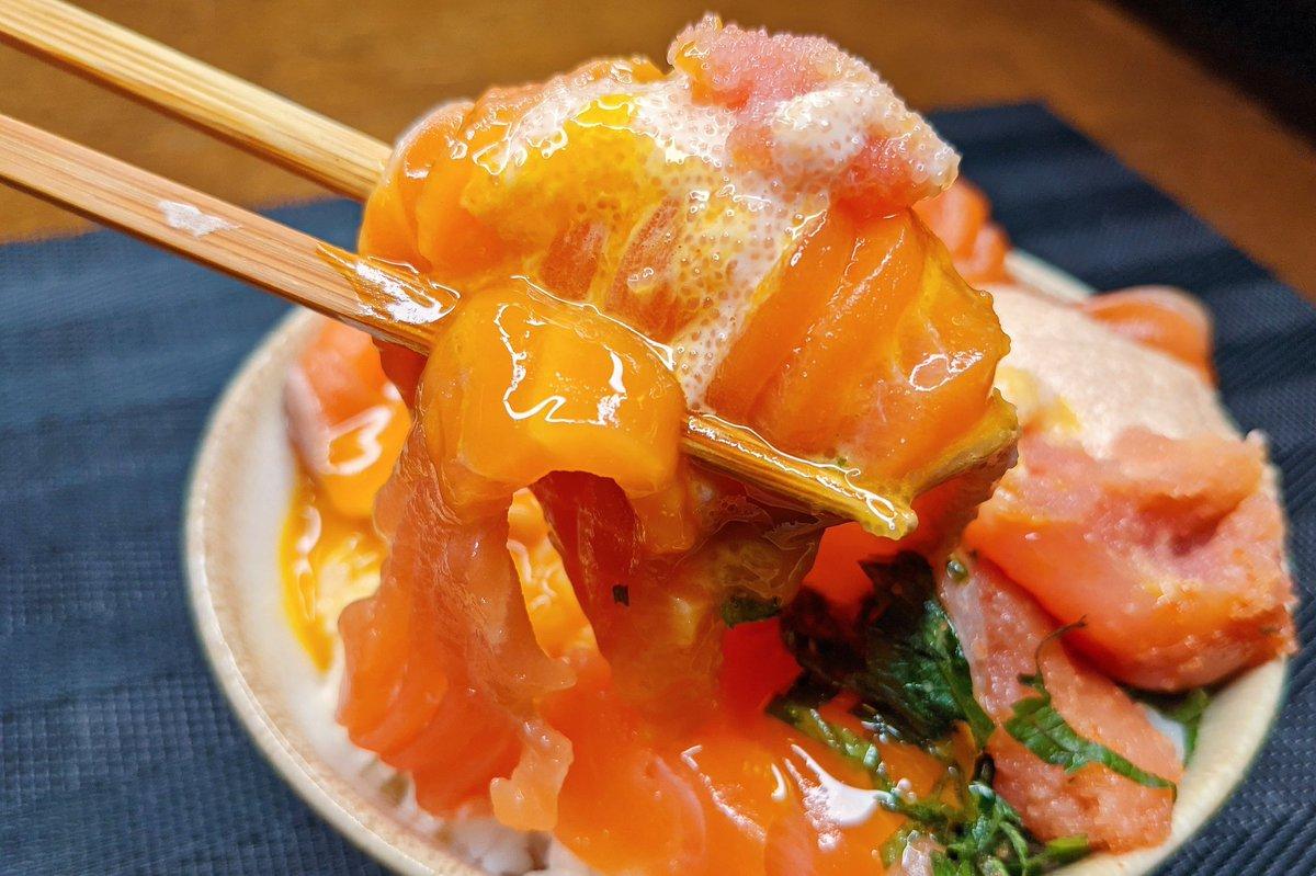 サーモン好きさんは是非!サーモンを使った明太マヨ丼のレシピ!