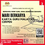 Image for the Tweet beginning: MARI BERKARYA KARYA GURU MALAYSIA: