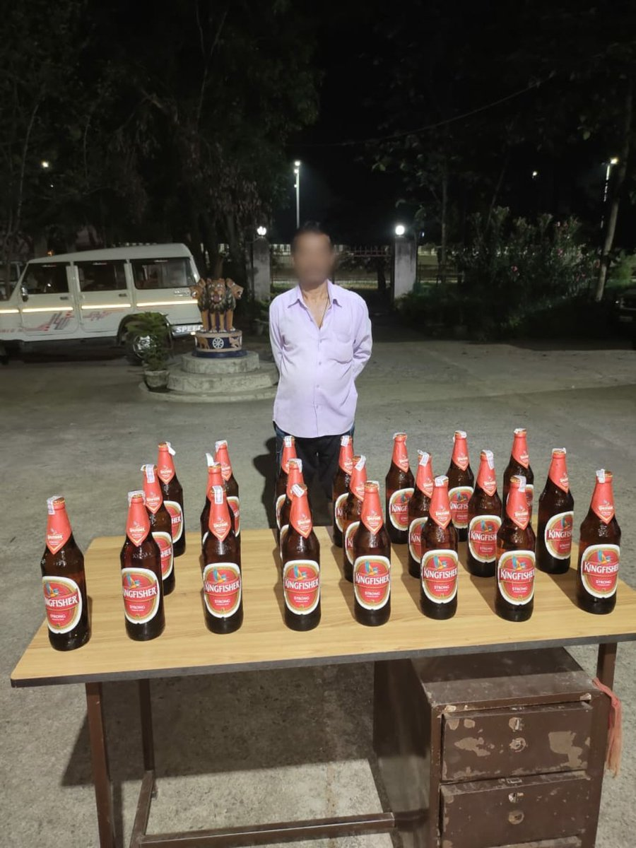 During excise raid Bhasma Police seized 22 Nos. of Beer bottles and arrested one person. PS case No. 121/21 U/s-52(a)(i) Odisha Excise Act was registered. @DGPOdisha @odisha_police @digwrrkl @sagarika_nath https://t.co/XMooxkaFsN