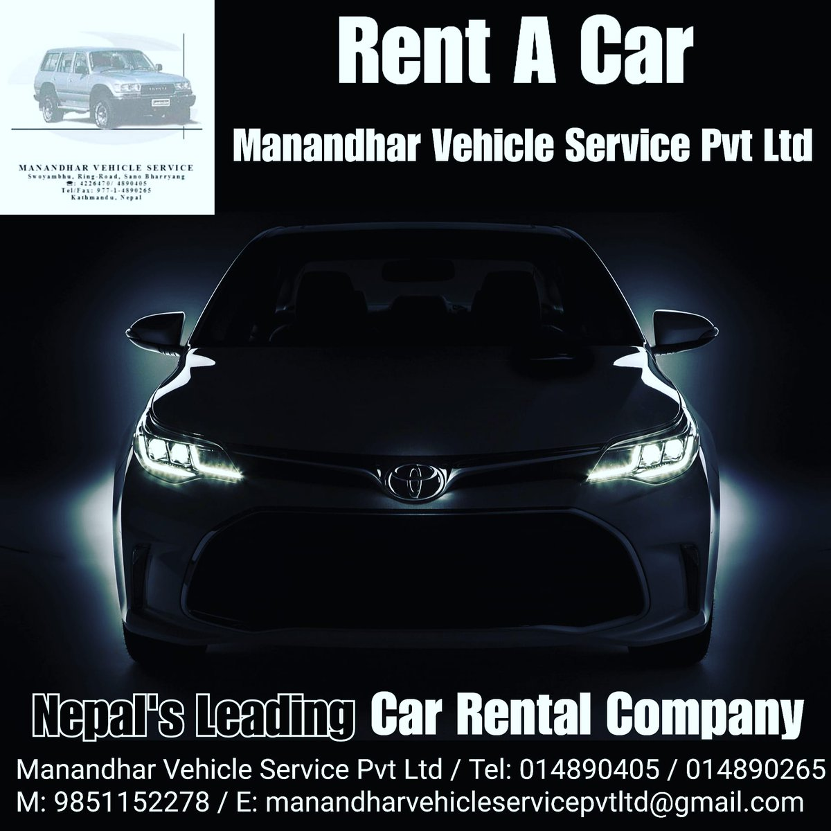 Manandhar Vehicle Service Pvt Ltd Nepal's Leading Car Rental Company Phone: 9851152278  #rentacar #rental #rentalbusiness #rent #kathmandu #Nepal https://t.co/t3RsM7ezKj