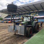 Image for the Tweet beginning: Drainage and gravel installation @MillwallFC